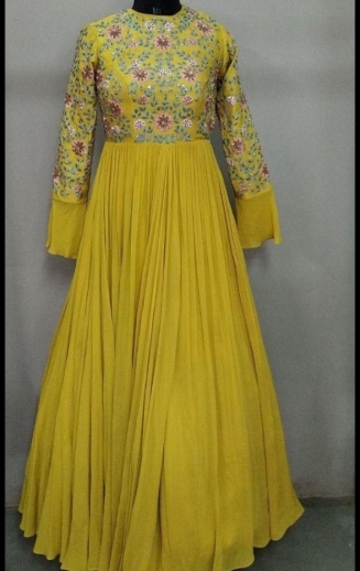 54d70d49c5 Buy Yellow Color Gown online, Latest Yellow Color Gown by Fashion ...