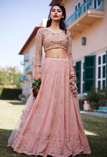 4b3ac35017269 recent view items. INR 13400. Pink Color Georgette Crop Top And Skirt