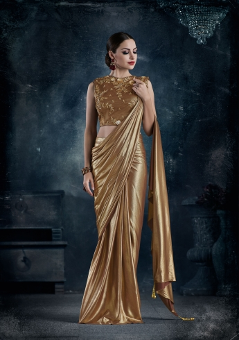 Buy Saree Gown | Saree Gown Designs | Draped Saree Gowns | Stitched ...