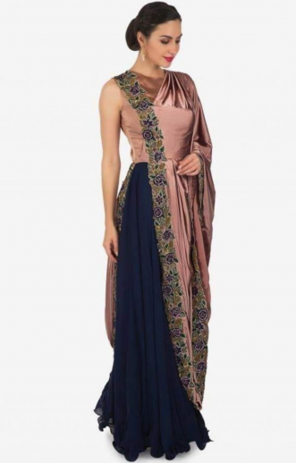 f6d96723cb Buy Saree Gown | Saree Gown Designs | Draped Saree Gowns | Stitched ...